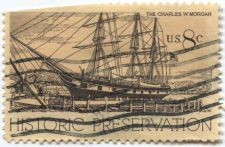 Buy 1971 8¢ Charles W. Morgan Historic Preservation Issue Good Used Cancelled Stamp
