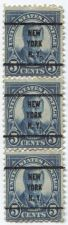 Buy 1922 5 Cents Theodore Roosevelt Strip of 3 Stamps 1x3 Overprinted New York, N.Y.