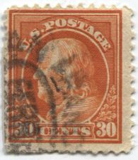 Buy 1914 30c Franklin unknown watermark Good Used Cancelled Condition Rare