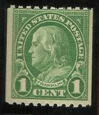 Buy Scott #604 Franklin 1c FVF 1924