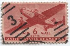 "Buy 1941 6 Cents Transport Cargo Plane Air Mail ""3"" Cancellation Good Used"