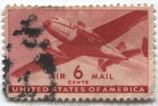 Buy 1941 6 Cents Transport Cargo Plane Air Mail Good Used Condition #2