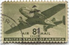 Buy 1941 8 Cents Transport Cargo Plane Olive Air Mail Good Used Condition Nice!