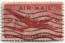 Buy 1946 5c DC-4 Skymaster Red Air Mail Good Used Condition Wave Cancellation