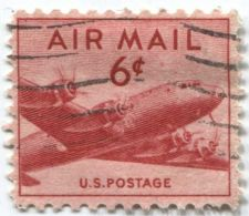 Buy 1949 6¢ DC-4 Skymaster Red Air Mail Good Used Condition Lightly Cancelled