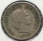 Buy Switzerland 5 Rappen 1919