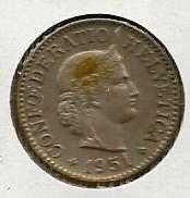 Buy Switzerland 10 Rappen 1951