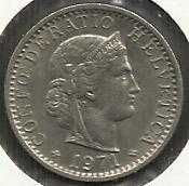 Buy Switzerland 20 Rappen 1971