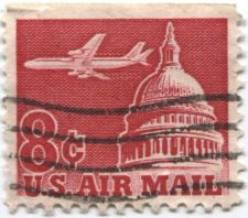 Buy 1962 8c Airplane over Capital Dome US Air Mail Cancelled Sheet Edge Nice Stamp