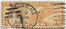 "Buy 1934 6c Winged Globe Used Cancelled ""2"" and ""Chicago, Ill. Aug. 5, 1934 "" Nice!"