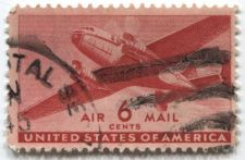 Buy 1941 6 Cents Transport Cargo Plane Air Mail Good Used Condition #3