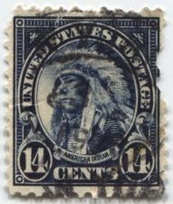 Buy 1923 14c Native American Blue Stamp Used Cancelled Very Good Condition