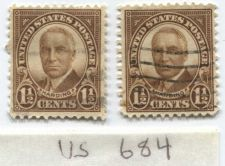 Buy 1930 Harding 1 1/2c Pair Stamps in Used Good condition one Hinged