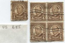 Buy 1930 President Taft 4c Brown Cancelled 2x2 Grid + Single Good Condition 5 Stamps
