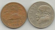 Buy Mexico Coin Lot 3 20 Centavos1955, 1 Peso 1975