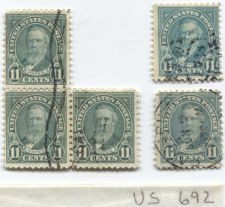 Buy 1931 Hayes 11 Cents Lot 3 Attached and 2 Singles, one mislabled used cancelled
