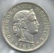 Buy Switzerland 20 Rappen 1974