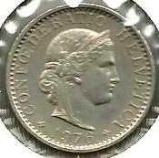 Buy Switzerland 20 Rappen 1976