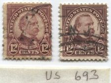 Buy 1923 12 cents Cleveland Stamps Good examples of 2 varieties cancelled used nice