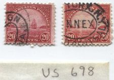 Buy 1931 20 Cents Golden Gate US Postage Stamps (x2) Cancelled Grand Central, NY