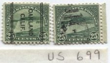 Buy 1931 25 Cents Niagra Falls Blue Green Pair of Unique Stamps Precancel Oakland CA