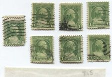 Buy 1932 1 Cent Commemorative Series Washington Set of 7 Stamps Used Good Cancelled