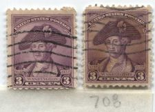 Buy 1932 3 Cents Washington Deep Violet Pair of Good Used Cancelled Stamps