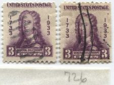 Buy 1933 3 Cents Georgia Bicentennial Series General Oglethorpe Pair of Stamps Used