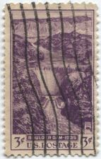 Buy 1935 3c Dedication of Boulder Dam Purple Good Used Vertical wave cancellation