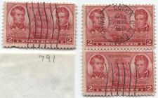 Buy 1937 2 cents Decatur and MacDonough Set of 3 stamps, 2 attached vertically