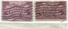 Buy 1937 3 cents Northwest Ordinance Territory Cutler & Putnam 2 Stamps Lot Used