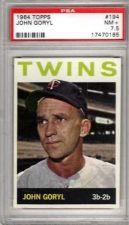 Buy 1964 Topps #194 John Goryl Minnesota Twins PSA NM+ 7.5