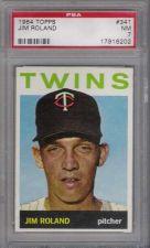 Buy 1964 Topps #341 Jim Roland Minnesota Twins PSA NM 7