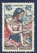 Buy FRENCH POLYNESIA - Woman with Seashells 1