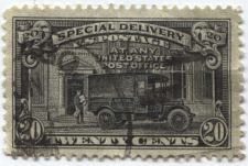Buy 1925 20¢ Post Office Truck Special Delivery Black Lightly Cancelled Rare!