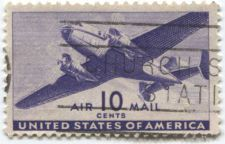 Buy 1941 10c United States of America AirMail Twin Motor Air Transport Cargo Plane