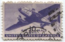 Buy 1941 10c United States of America AirMail Twin Motor Air Transport Cargo Plane 2
