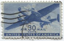 Buy 1941 30 cents US Air Mail Transport Plane Stamp Lightly Postmarked Illegible