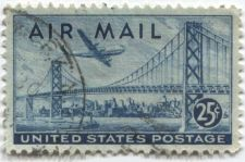 Buy 1945 25c Boeing B377 Stratocruiser over Bay Bridge Lightly cancelled postmarked