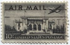 Buy 1946 10c Pan-American Building AirMail US Postage Plane Flying Over Cancelled
