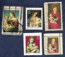 Buy US Stamps - Five (5) Madonna Stamps Usued * * Postal Value = $0.76 * *