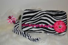 Buy Zebra pink travel wipe case gift set baby shower girl bow pacifier clip cute new