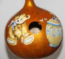 Buy Gourd Birdhouse with Teddy Bear and Honey Jar