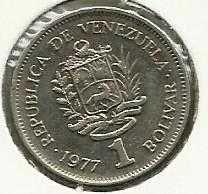 Buy 1977 VENEZUELA Coin 1 Bolivar