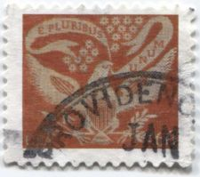 Buy 2002 60c Coverlet Red Eagle Stamp Half-Round Cancellation Modern Providence