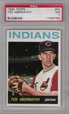 Buy 1964 Topps #64 Ted Abernathy Cleveland Indians PSA NM 7