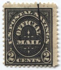 Buy 1911 2 cents Black US Official Savings Stamp Cancelled Good Used Condition