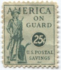Buy 1941 25 cents Green US Official Savings Stamp Mint Condition Good Collectible