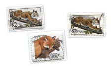 Buy 1990 $2 Bobcat Stamps x2 plus 1998 Red Fox Cancelled Good Used Condition Lot