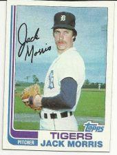 Buy 1982 TOPPS JACK MORRIS BASEBALL CARD #450 Detoit Tigers TOPPS